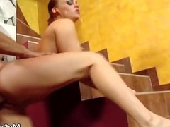 Cock loving European whore loves a good