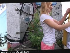PublicAgent - She gets spit-roasted outdoors
