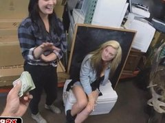Lesbians caught on tape in pawn shop