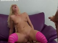 casting hot blonde encountered with 2 cocks