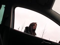 Teen Gina have sex with a pervy driver