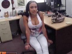 Huge tits latina sucks dick