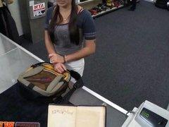 Brunette teen needs cash for school