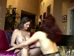 Mature housewives having lesbian sex