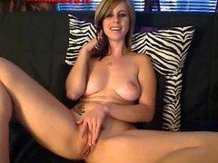 Hot Brunette Big Tits masturbates On Cam