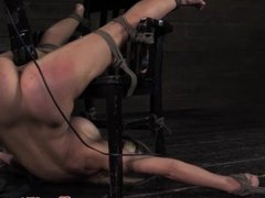 Male dom brutal penalized while tied up