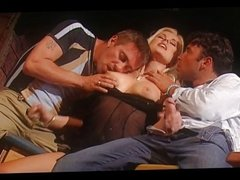 Sandra Russo - Beautiful Blonde fucked in Bar