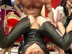 Big ass model stripping