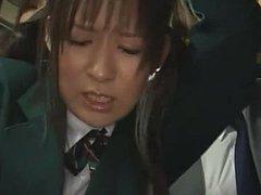 Schoolgirl groped by Stranger in a train
