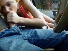 Teen Dakota Skye fucked in the backseat