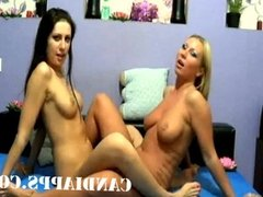 Two hot young lesbians anal fucking pt1