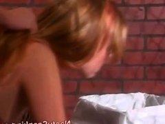 Lesbian femdom OTK spanking
