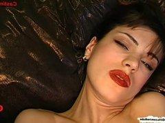 Gorgeous brunette babe Irina wants cum on her