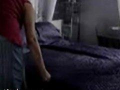 Hidden cam caught milf in her bedroom