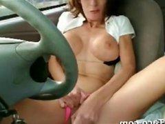 Mother Masturbating In Her Car