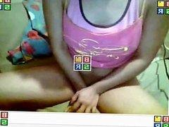 Hot girl masturbating on MSN  webcam (real)