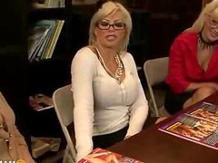 Blonde MILF fucked in a library