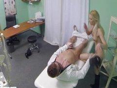Doctor fucks his blonde patient