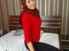 Hot  Arab Hijab Show