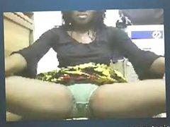Ebony MILF Teases For Tokens