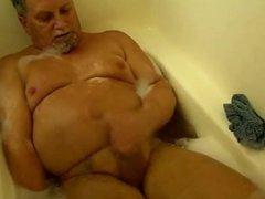 man in a solo scene in the bath