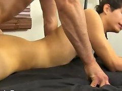 Gay guys Mike ties up and blindfolds the