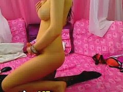 Hot Asian Shemale Jerks Her Dick