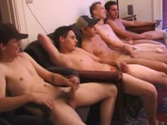 Group of straight amateur twink jerk off on c