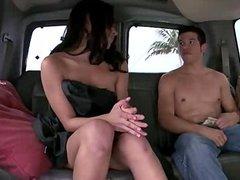 Hot Latina Chick Hops On The BangBus