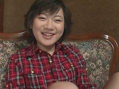 Cute teen in panties spreads legs for toy
