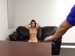 Creampie casting for tight hole brunette