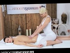 Massage Rooms - Two beautiful lesbians have