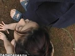 Asian sweetie is trained as a bitch