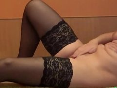 Solo Russian girl in stockings
