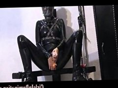 hardcore girl in latex toy fucking