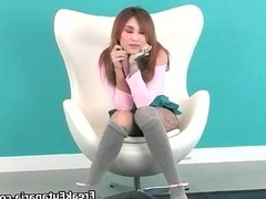 nasty redhead sitting on on a couch