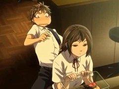 Hentai cutie in uniform gives oral