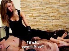 Sexy exgirlfriend balls licking