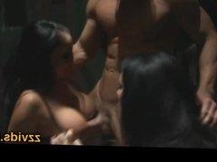 Audrey Bitoni threesome fucking