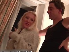 Petite blonde girl fucked for the first