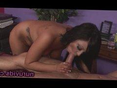 Haley James blowjob after massage