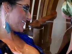 Wet gf cock sucking