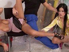 Hot teeny striptease