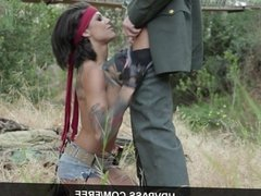 Bonnie Rotten Gets Pounded Outdoors