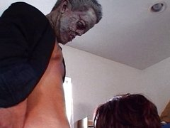 Midget zombie nails some pussy