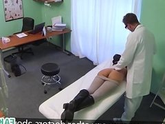 Hot babe in fake hospital