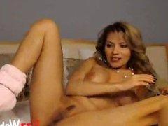 Busty Pornstar Sticks ButtPlug In Her Asshole