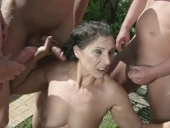 Again a golden shower for slutwife Margo