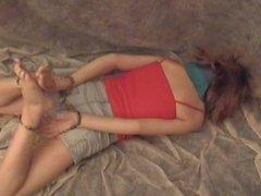 Cuffed girl handcuffs