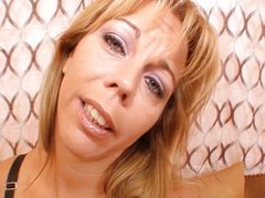 Horny MILF knows how to titfuck